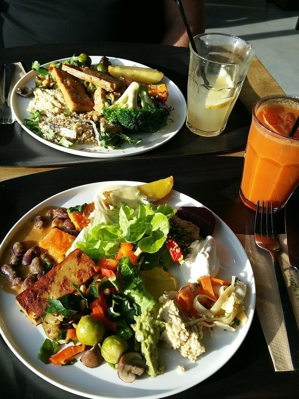 """Photo of Noordoever  by <a href=""""/members/profile/TrudiBruges"""">TrudiBruges</a> <br/>lunch at Noordoever, Louvain. Pay per weight. These two dishes were 30€.  <br/> February 21, 2017  - <a href='/contact/abuse/image/72849/228828'>Report</a>"""