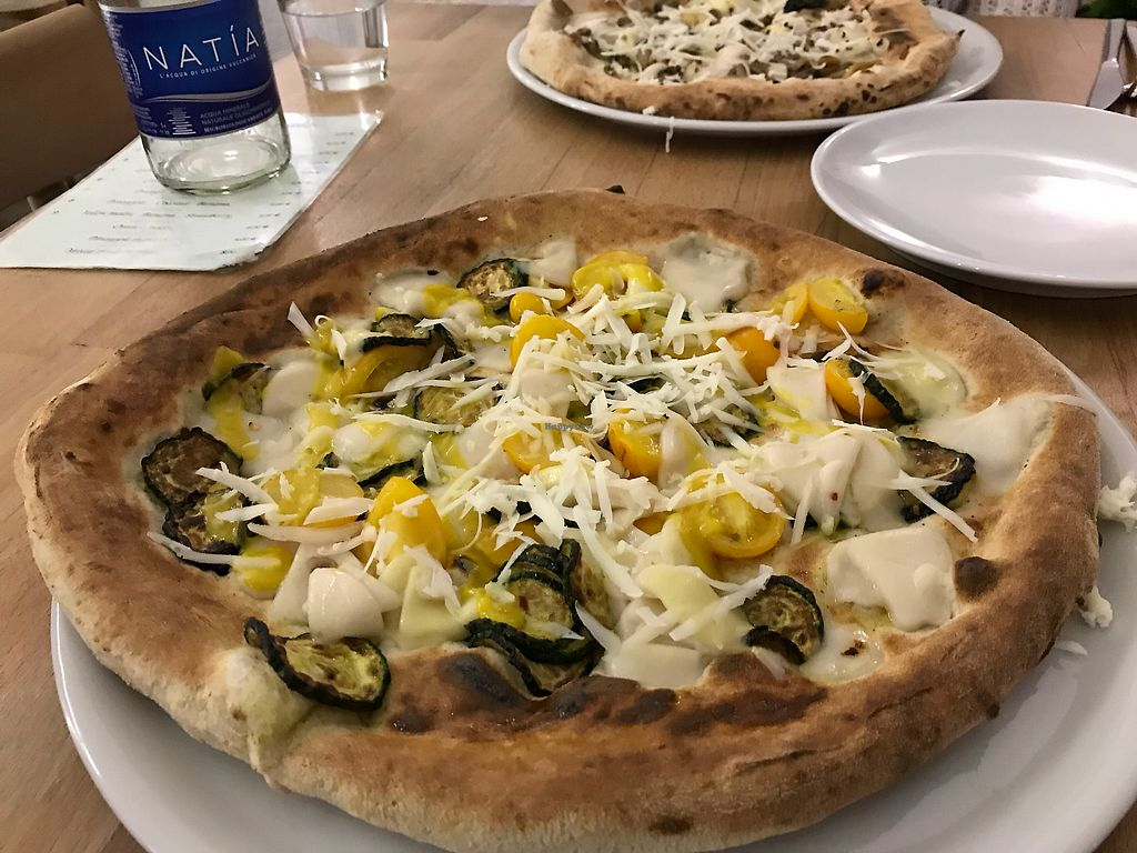 "Photo of Vitto Pitagorico  by <a href=""/members/profile/NorthOfSixty"">NorthOfSixty</a> <br/>Ridiculously good pizza w/ vegan mozzarella. Perfect hemp crust! <br/> October 8, 2017  - <a href='/contact/abuse/image/72853/313296'>Report</a>"