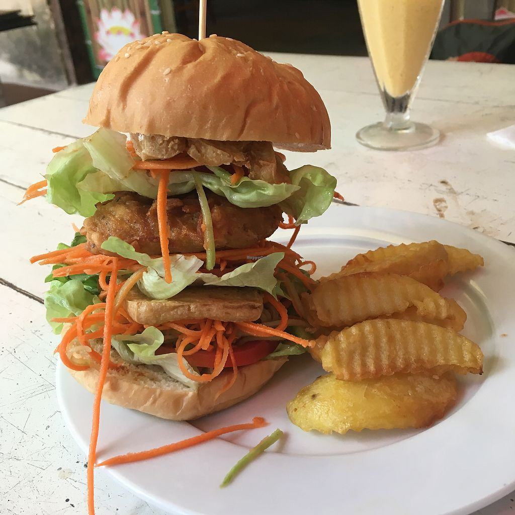 """Photo of Buddha Belly - Buddha Garden  by <a href=""""/members/profile/BigVeegs"""">BigVeegs</a> <br/>Whopper vegan burger  <br/> January 24, 2018  - <a href='/contact/abuse/image/72870/350378'>Report</a>"""