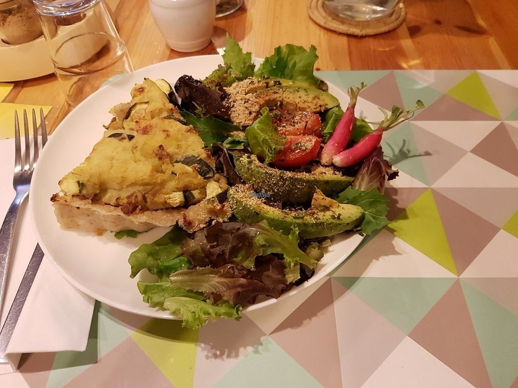 "Photo of CLOSED: Le Speakeasy  by <a href=""/members/profile/vfantasy"">vfantasy</a> <br/>Potato leek pie w side salad. Recommended. Large portions and olives are given <br/> August 5, 2016  - <a href='/contact/abuse/image/7291/165976'>Report</a>"