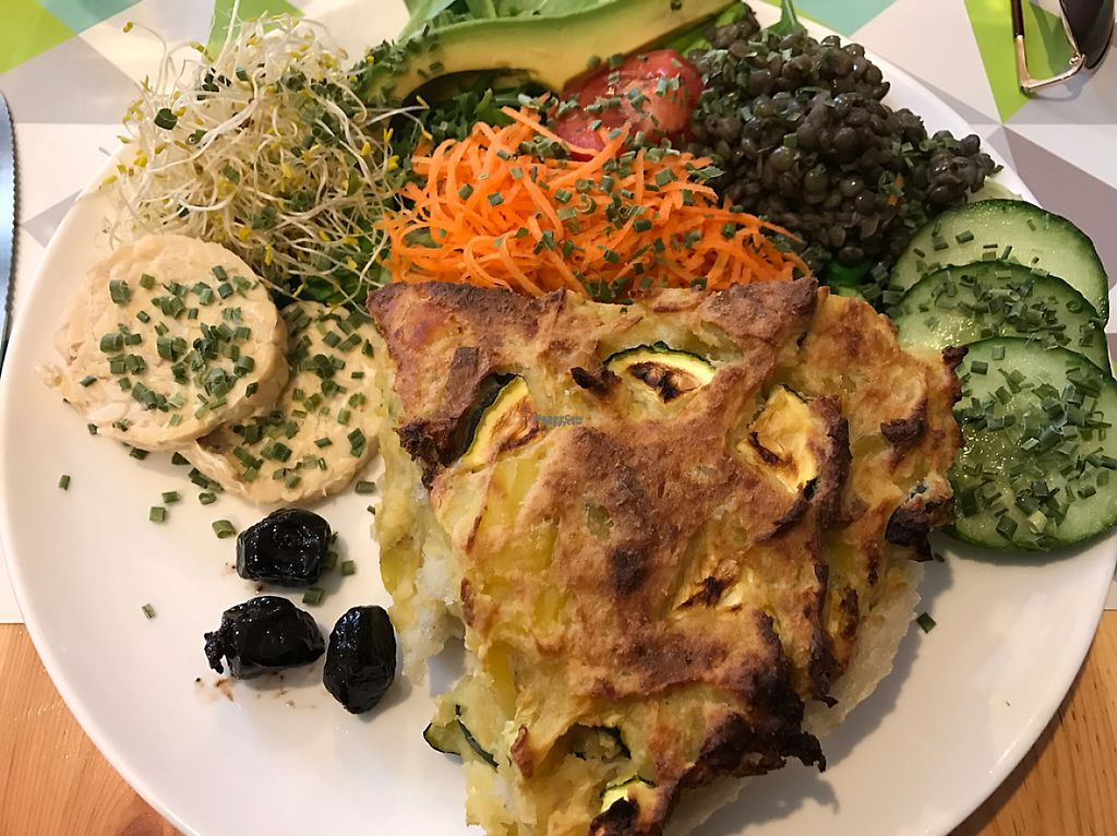 "Photo of CLOSED: Le Speakeasy  by <a href=""/members/profile/Shan-Shan"">Shan-Shan</a> <br/>potato zucchini pie with side salad, veg and tempeh <br/> April 11, 2017  - <a href='/contact/abuse/image/7291/247042'>Report</a>"