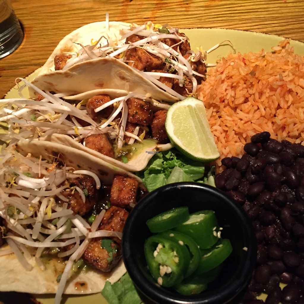 """Photo of Mad Mex  by <a href=""""/members/profile/halfthejob"""">halfthejob</a> <br/>""""Herb O'Vores Tofu Tacos"""" <br/> December 7, 2016  - <a href='/contact/abuse/image/72920/198105'>Report</a>"""