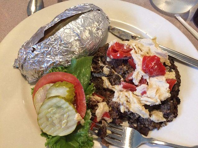 "Photo of Sweet Potato Cafe  by <a href=""/members/profile/RebeccaX13"">RebeccaX13</a> <br/>Portobello Veggie Burger (no bun) <br/> September 10, 2016  - <a href='/contact/abuse/image/72943/174745'>Report</a>"