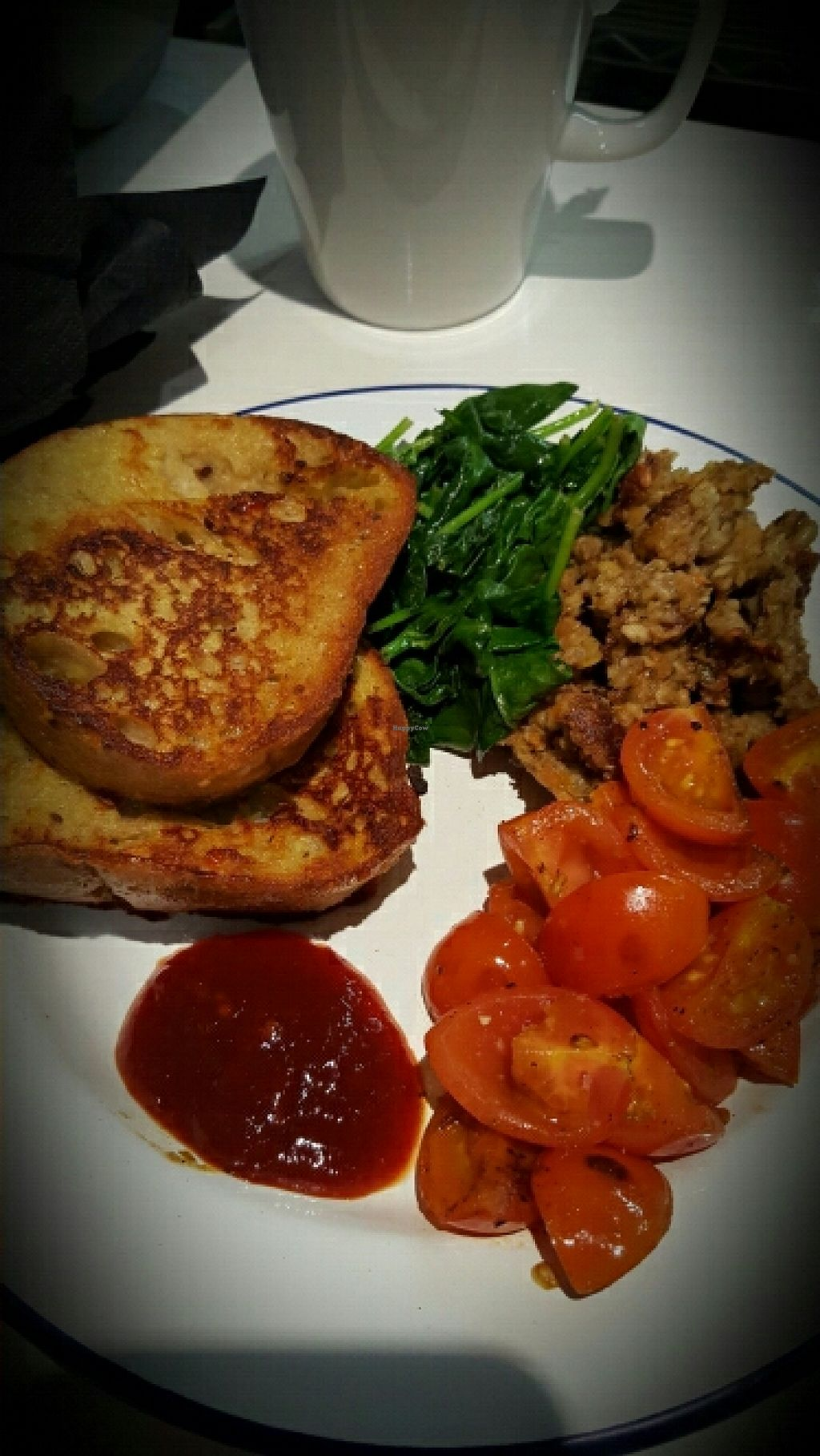 """Photo of CLOSED: The Caffeine Drip  by <a href=""""/members/profile/Fatveganslim"""">Fatveganslim</a> <br/>vegan French toast  <br/> May 3, 2016  - <a href='/contact/abuse/image/72974/147290'>Report</a>"""