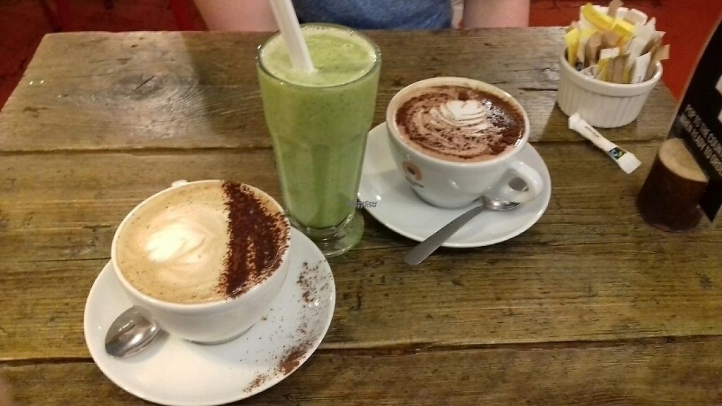 """Photo of CLOSED: The Caffeine Drip  by <a href=""""/members/profile/Rebca_damson"""">Rebca_damson</a> <br/>kale smoothie, mocha, hot chocolate  <br/> March 16, 2017  - <a href='/contact/abuse/image/72974/236997'>Report</a>"""