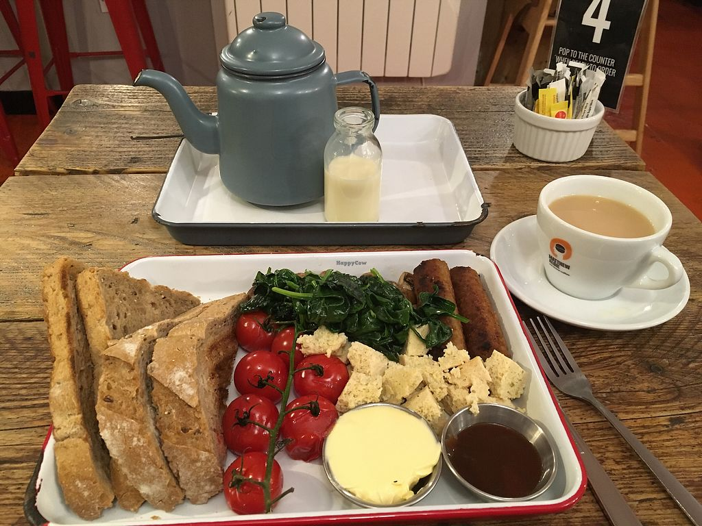 """Photo of CLOSED: The Caffeine Drip  by <a href=""""/members/profile/Mandz2000"""">Mandz2000</a> <br/>Vegan brekkie and tea - perfect and great presentation! <br/> June 29, 2017  - <a href='/contact/abuse/image/72974/274787'>Report</a>"""