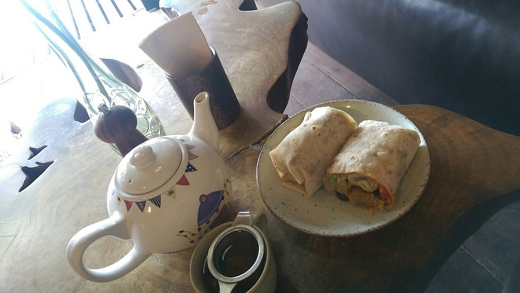 """Photo of Coconut Monkey  by <a href=""""/members/profile/whatswithwendy"""">whatswithwendy</a> <br/>falafel wrap and ginseng tea  <br/> December 30, 2016  - <a href='/contact/abuse/image/73003/206122'>Report</a>"""