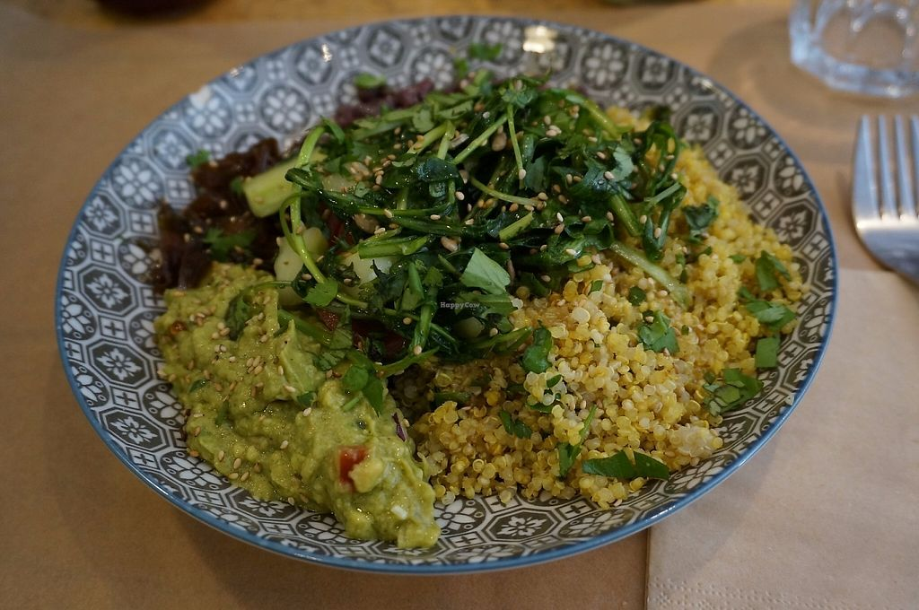 """Photo of Positive Cafe  by <a href=""""/members/profile/Ricardo"""">Ricardo</a> <br/>Mexican Bowl (vegan) <br/> May 26, 2017  - <a href='/contact/abuse/image/73097/262759'>Report</a>"""