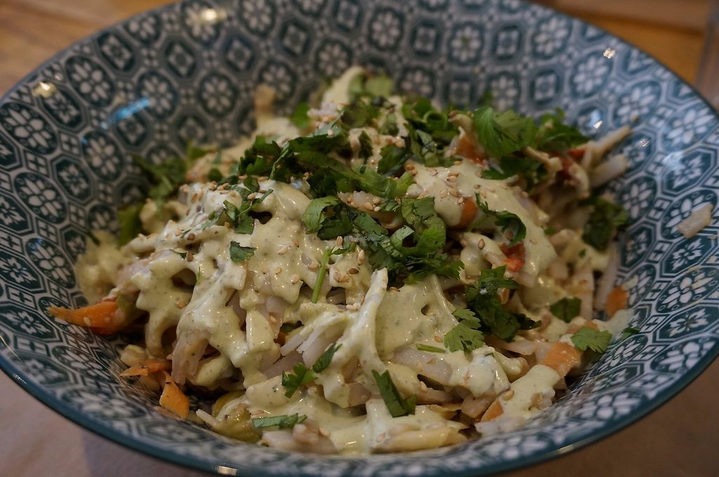 """Photo of Positive Cafe  by <a href=""""/members/profile/Ricardo"""">Ricardo</a> <br/>Pad Thai (vegan) <br/> May 26, 2017  - <a href='/contact/abuse/image/73097/262760'>Report</a>"""