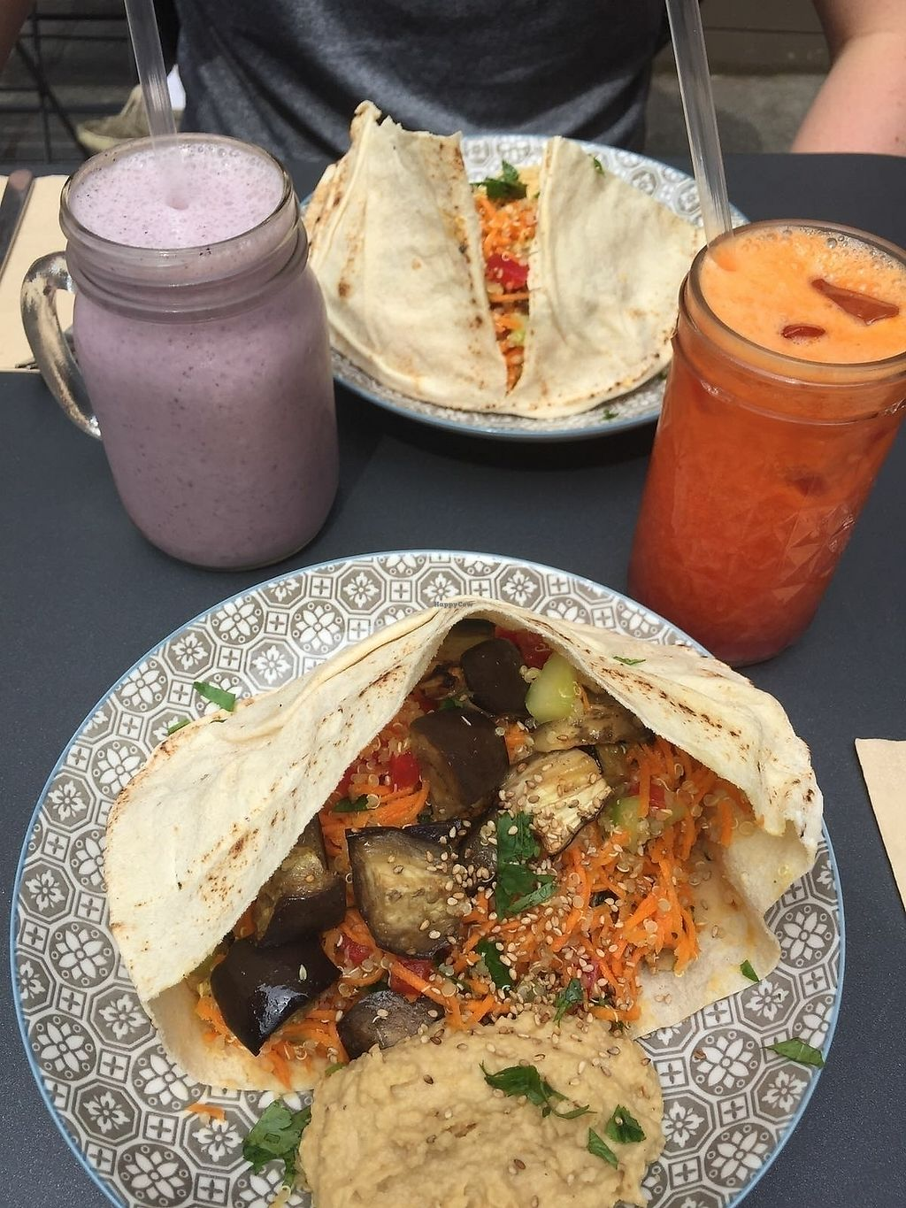 """Photo of Positive Cafe  by <a href=""""/members/profile/CraigKerr"""">CraigKerr</a> <br/>Vegan wraps, smoothie and juice <br/> July 6, 2017  - <a href='/contact/abuse/image/73097/277102'>Report</a>"""