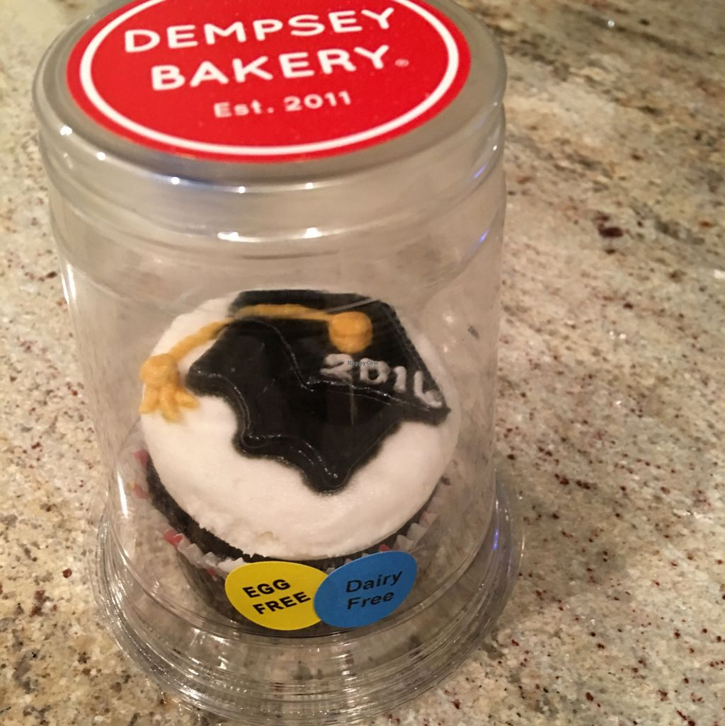 "Photo of Dempsey Bakery  by <a href=""/members/profile/Chloe%20Bohannon"">Chloe Bohannon</a> <br/>Graduation cupcake <br/> May 14, 2016  - <a href='/contact/abuse/image/73104/148968'>Report</a>"