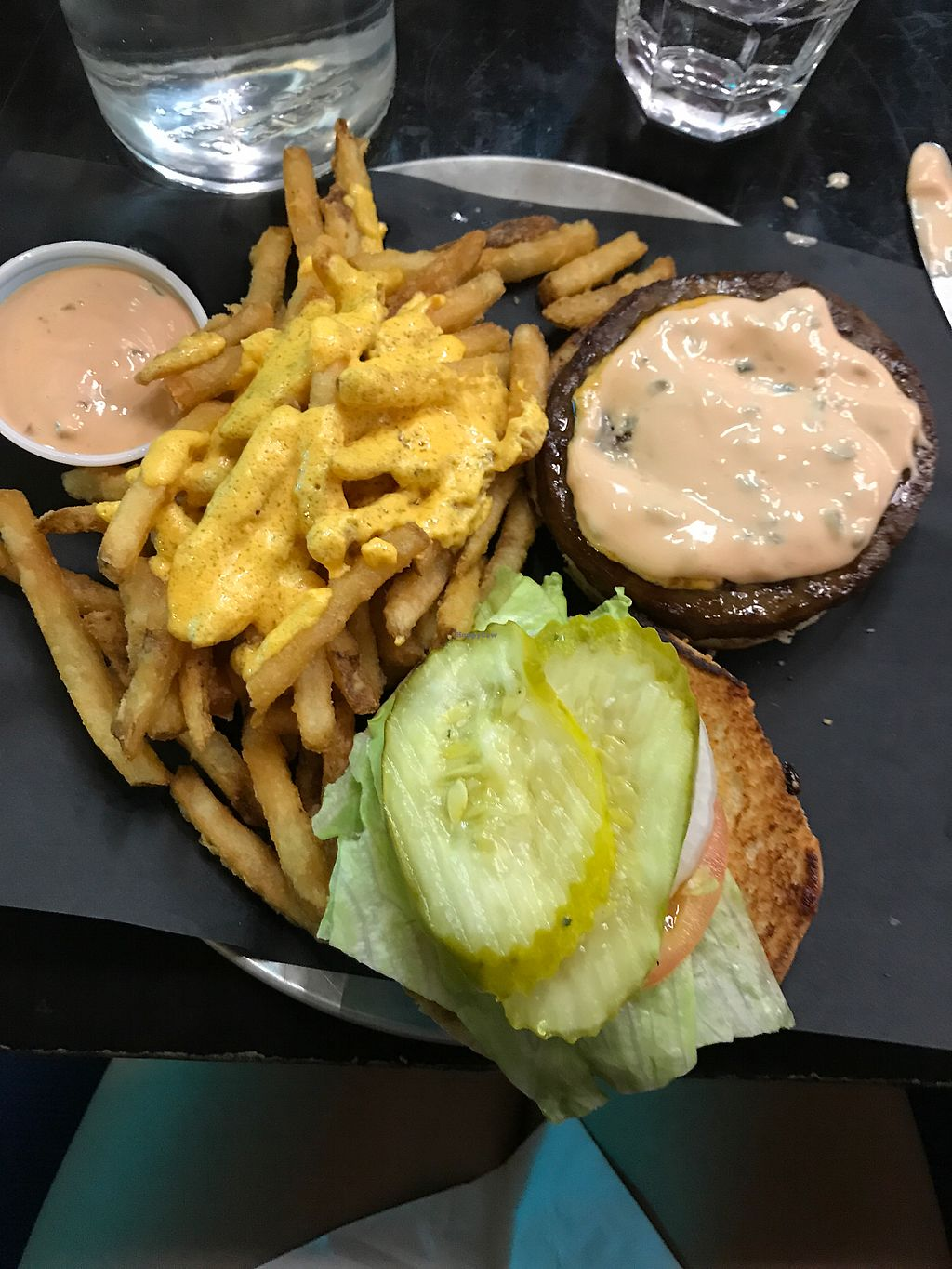 "Photo of Doomie's  by <a href=""/members/profile/WandaBeydoun"">WandaBeydoun</a> <br/>classic burger with cheese fries. Tasted just like meat ?  <br/> August 18, 2017  - <a href='/contact/abuse/image/73105/293991'>Report</a>"