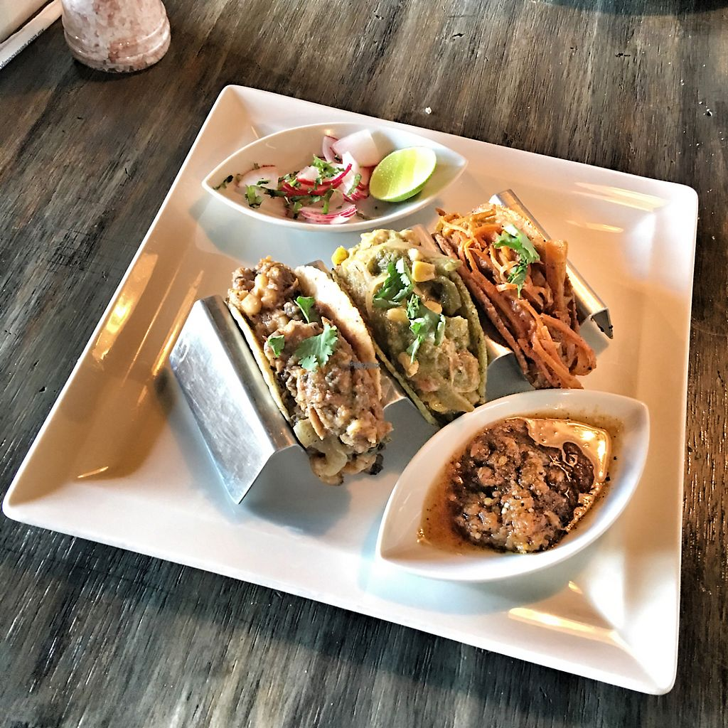 "Photo of Leaf Restaurant  by <a href=""/members/profile/Jdeezy80"">Jdeezy80</a> <br/>Trilogy of Vegan Tacos. SO GOOD!  <br/> March 25, 2017  - <a href='/contact/abuse/image/73123/240763'>Report</a>"