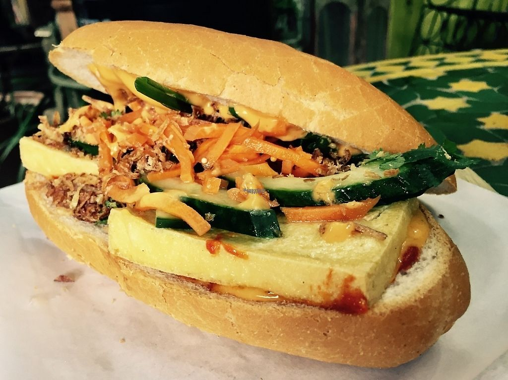"""Photo of Kofi Beans  by <a href=""""/members/profile/karlaess"""">karlaess</a> <br/>Bahn Mi (Tofu) <br/> January 22, 2017  - <a href='/contact/abuse/image/73127/214536'>Report</a>"""