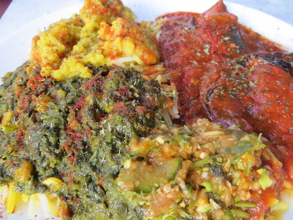 """Photo of Afghan-Eck  by <a href=""""/members/profile/NatalieBlanc"""">NatalieBlanc</a> <br/>3 vegan curries dish <br/> July 10, 2017  - <a href='/contact/abuse/image/73130/278615'>Report</a>"""