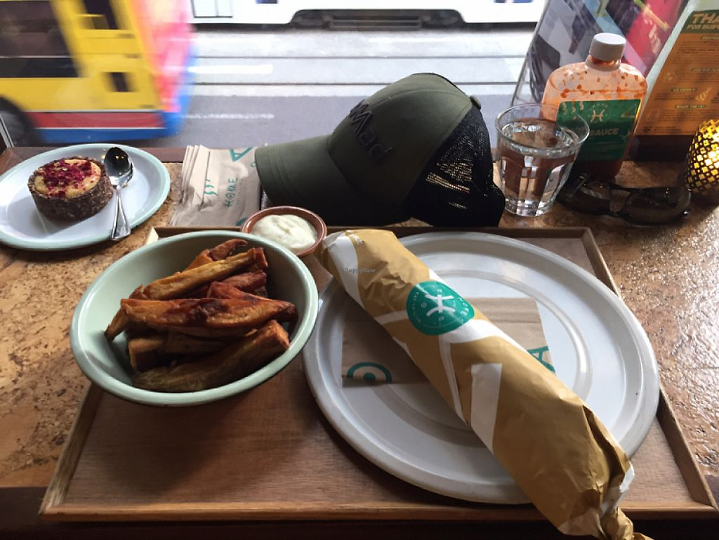 "Photo of CLOSED: Home - Eat To Live  by <a href=""/members/profile/GeckoHeaven"">GeckoHeaven</a> <br/>Falafel wrap fries and Lemon cake <br/> June 1, 2017  - <a href='/contact/abuse/image/73132/264763'>Report</a>"