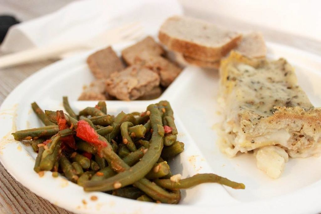 """Photo of CLOSED: Testa di Rapa  by <a href=""""/members/profile/SueClesh"""">SueClesh</a> <br/>green beans, tempeh and lasagna <br/> July 21, 2016  - <a href='/contact/abuse/image/73141/161419'>Report</a>"""