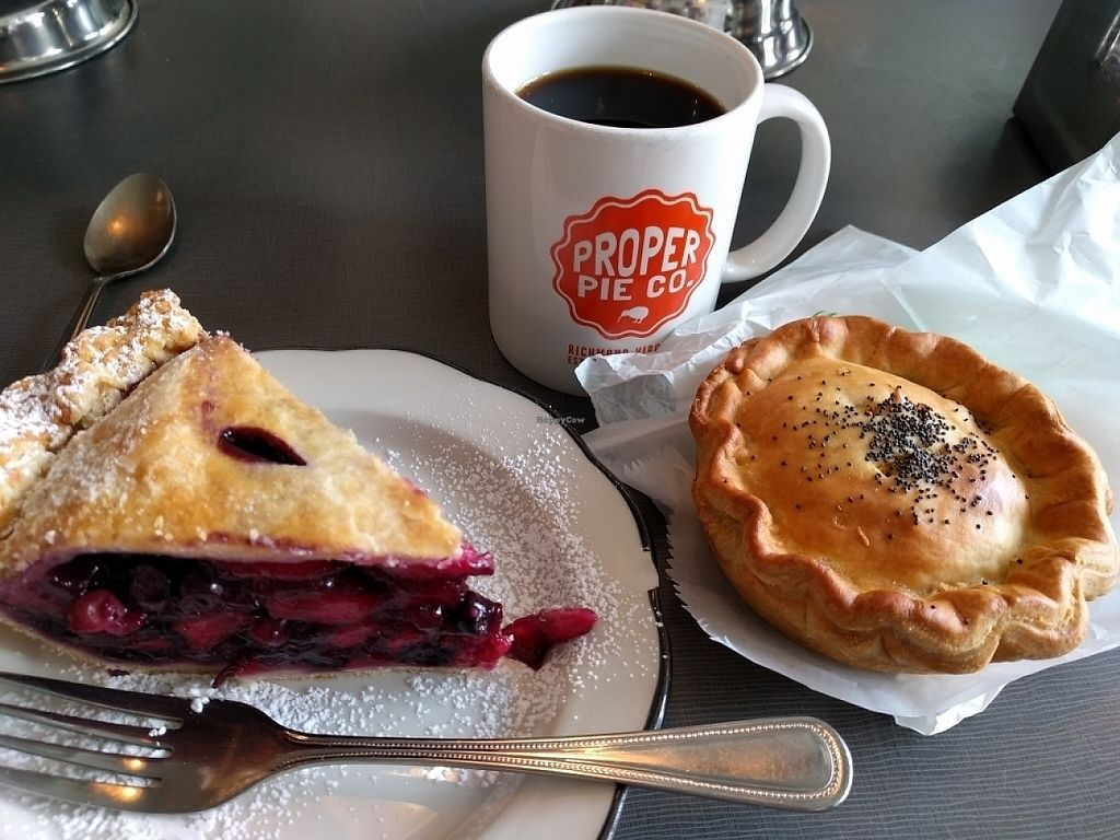 """Photo of Proper Pie Co.  by <a href=""""/members/profile/JohnGardner"""">JohnGardner</a> <br/>Apple Blueberry with Vegan Steak and Cheese <br/> May 5, 2017  - <a href='/contact/abuse/image/73158/255941'>Report</a>"""