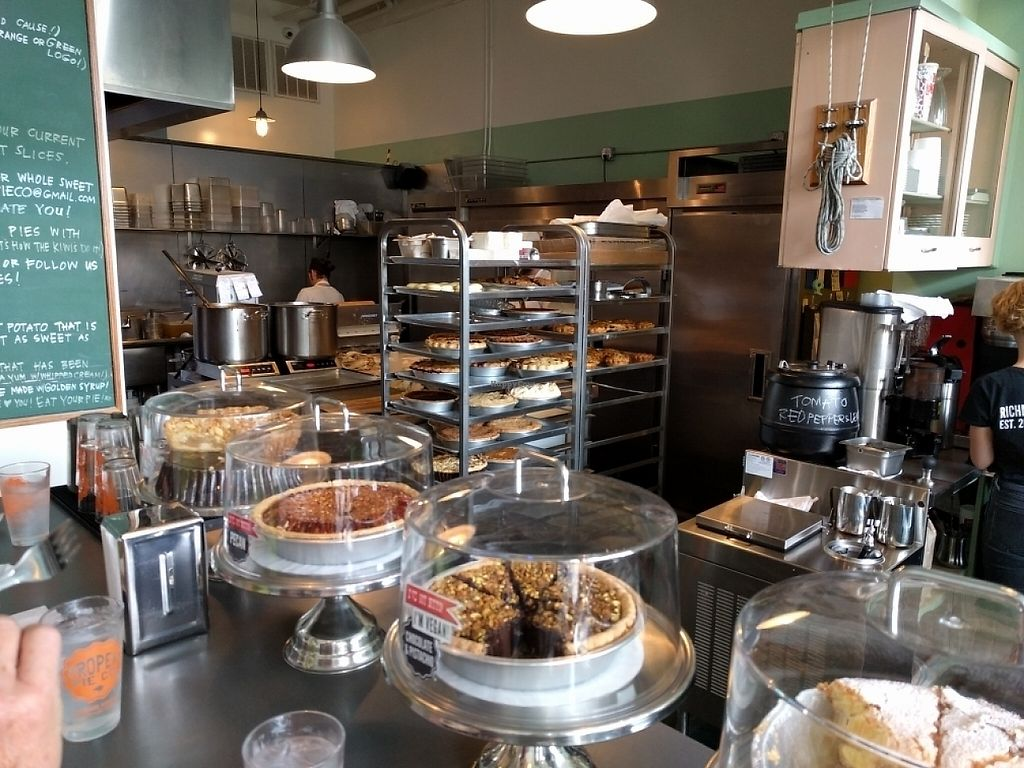"""Photo of Proper Pie Co.  by <a href=""""/members/profile/JohnGardner"""">JohnGardner</a> <br/>Kitchen and counter <br/> May 5, 2017  - <a href='/contact/abuse/image/73158/255942'>Report</a>"""