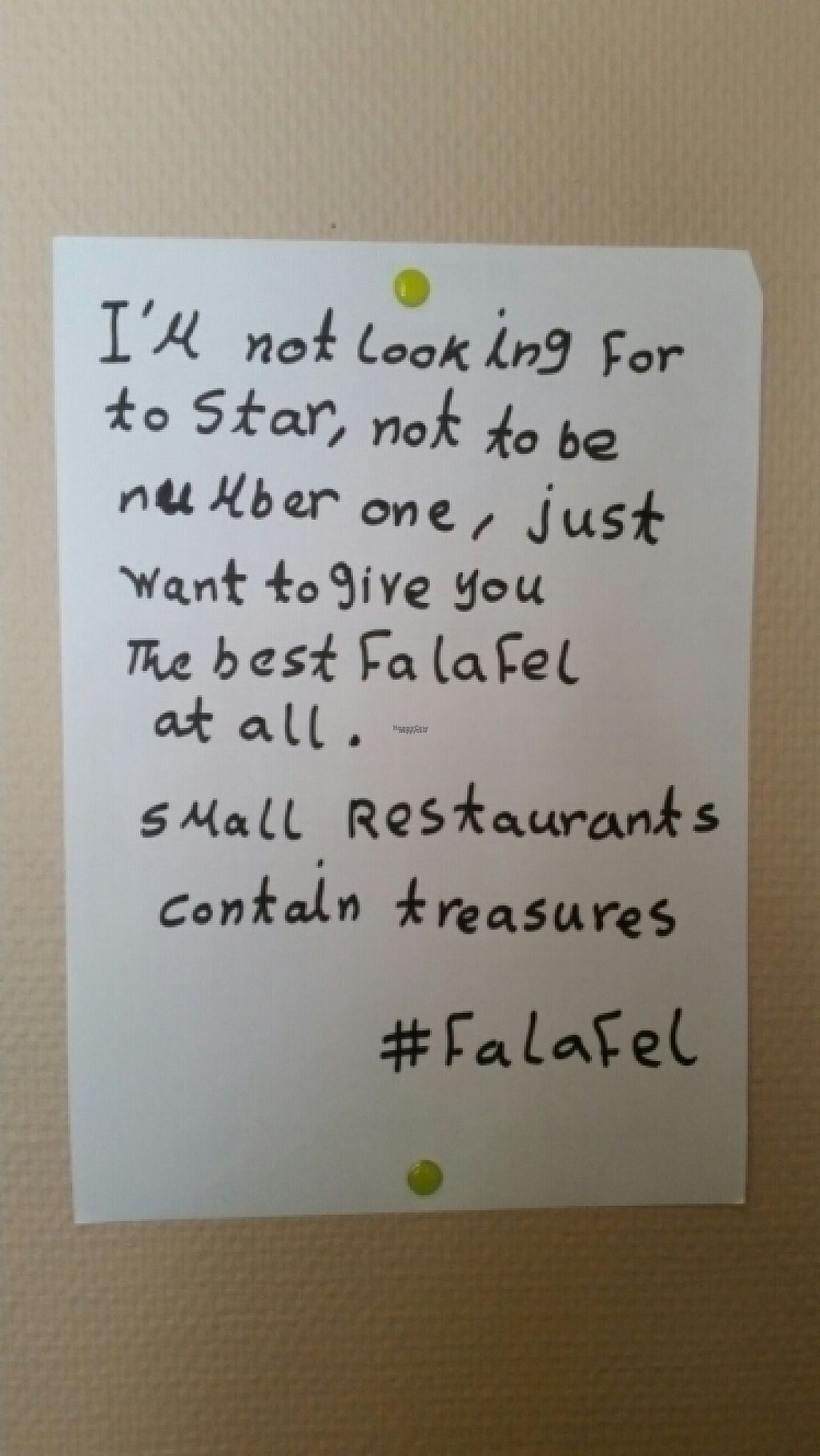 """Photo of Hashtag Falafel  by <a href=""""/members/profile/Lady.Tamina"""">Lady.Tamina</a> <br/>we could feel this motto <br/> August 7, 2016  - <a href='/contact/abuse/image/73160/166683'>Report</a>"""