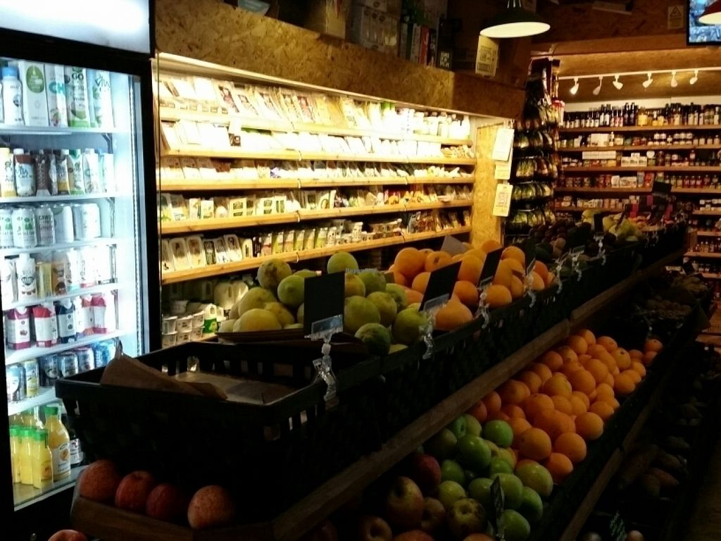 """Photo of Hackney Fresh  by <a href=""""/members/profile/eric"""">eric</a> <br/>produce and vegan cheeses <br/> July 18, 2016  - <a href='/contact/abuse/image/73164/160730'>Report</a>"""