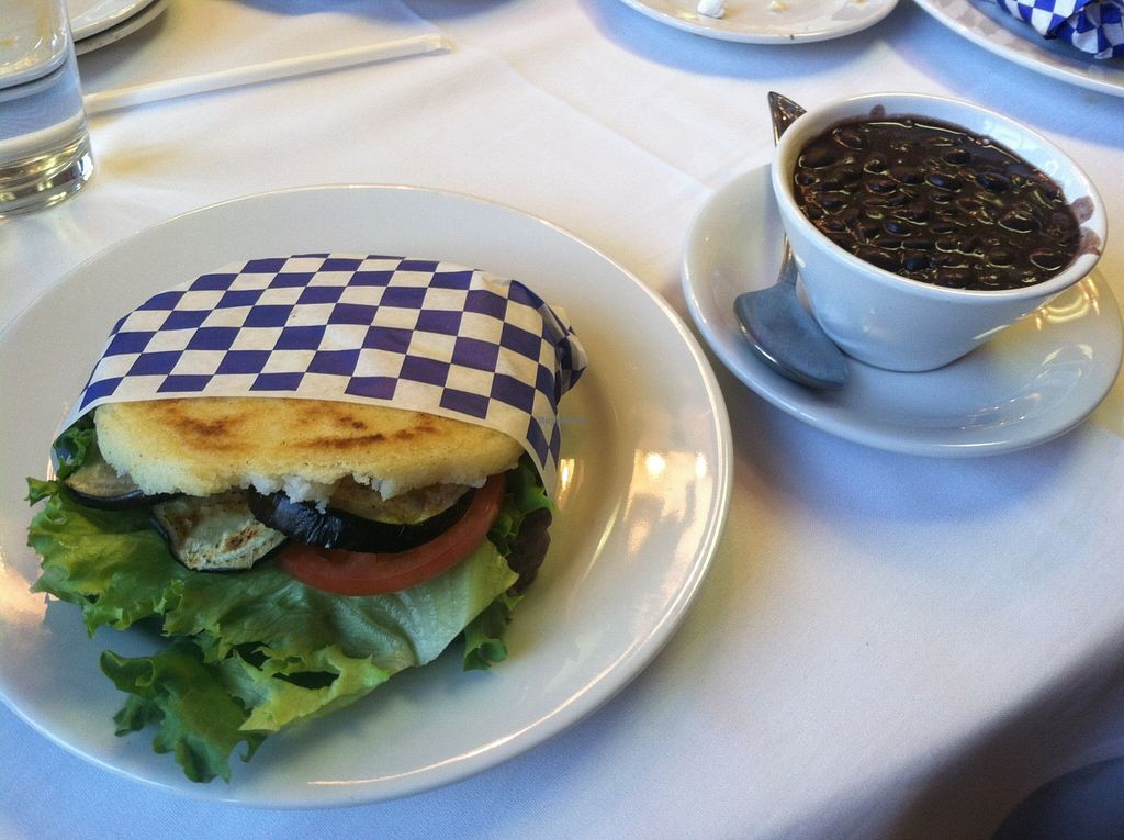 """Photo of Arepita Cafe  by <a href=""""/members/profile/spiffysavannah"""">spiffysavannah</a> <br/>Arepa eggplant! <br/> May 15, 2016  - <a href='/contact/abuse/image/73165/149159'>Report</a>"""