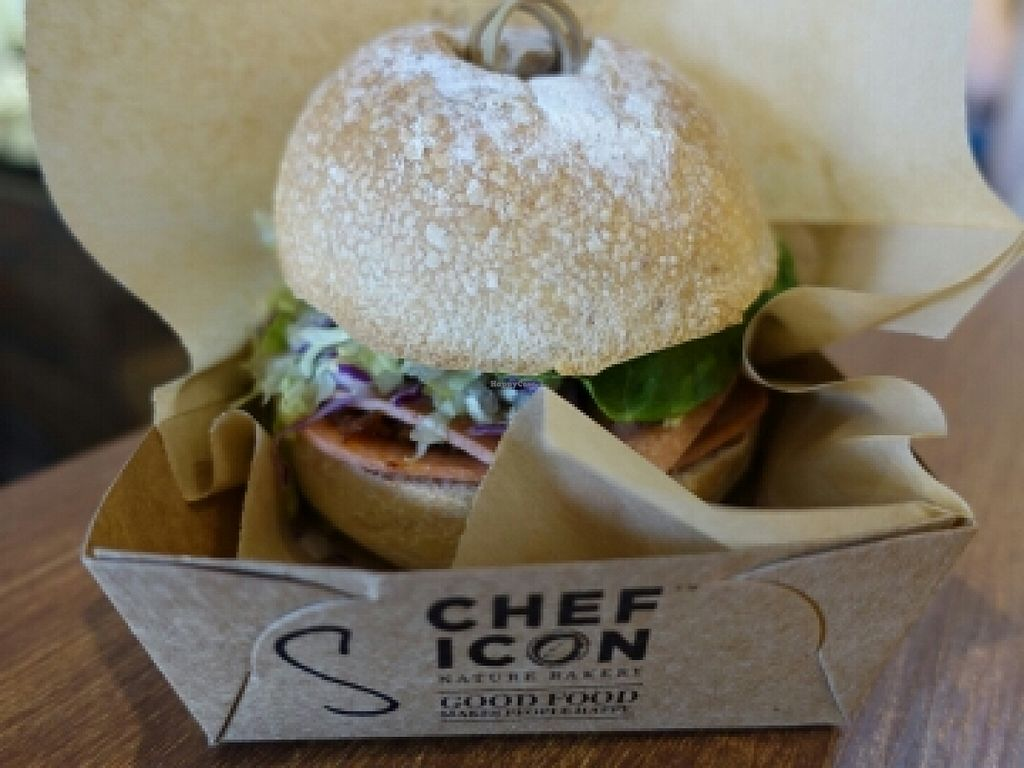 "Photo of Chef Icon Nature Bakery - Kampong Bahru Rd  by <a href=""/members/profile/JimmySeah"">JimmySeah</a> <br/>homemade Sambal & ham rustic burger  <br/> May 15, 2016  - <a href='/contact/abuse/image/73166/149057'>Report</a>"