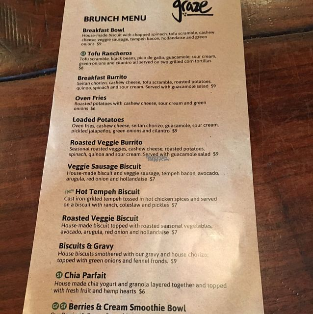 """Photo of Graze  by <a href=""""/members/profile/Kjeffy"""">Kjeffy</a> <br/>awesome vegan brunch <br/> October 2, 2016  - <a href='/contact/abuse/image/73189/179280'>Report</a>"""