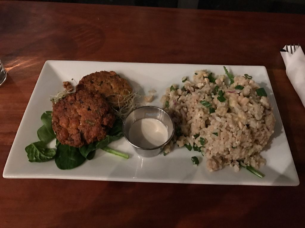 """Photo of Graze  by <a href=""""/members/profile/AllisonBraun"""">AllisonBraun</a> <br/>Earth & Sea. chickpea cakes with seaweed. YUM!! <br/> January 26, 2017  - <a href='/contact/abuse/image/73189/216907'>Report</a>"""