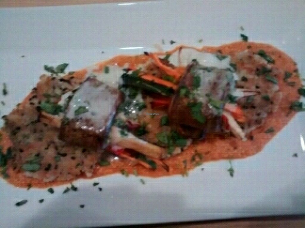 "Photo of Poppycock's  by <a href=""/members/profile/emmawin"">emmawin</a> <br/>Daily special, veg wrapped in eggplant with tomato cashew sauce and coconut cream <br/> March 6, 2016  - <a href='/contact/abuse/image/7318/138993'>Report</a>"