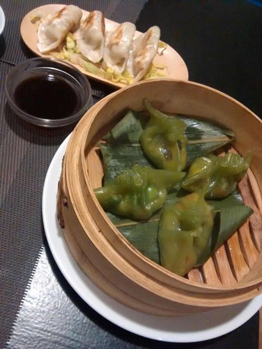 """Photo of DimSum Market  by <a href=""""/members/profile/LeFunks"""">LeFunks</a> <br/>Veggie guotie and wantan  <br/> May 5, 2016  - <a href='/contact/abuse/image/73205/147557'>Report</a>"""