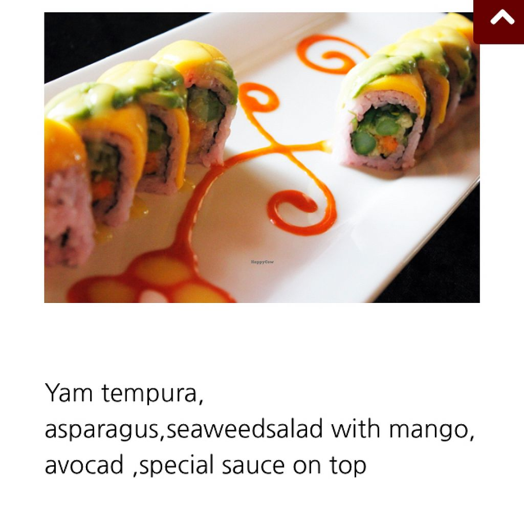 """Photo of CLOSED: Sushi Well  by <a href=""""/members/profile/JessicaKlose"""">JessicaKlose</a> <br/>Green Mango Roll <br/> May 11, 2016  - <a href='/contact/abuse/image/73261/148572'>Report</a>"""