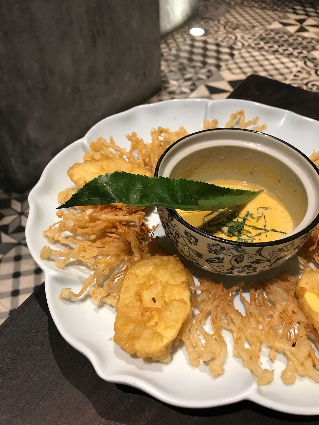 """Photo of Uu Dam Chay  by <a href=""""/members/profile/vegetariangirl"""">vegetariangirl</a> <br/>Fried enoki mushrooms <br/> January 15, 2018  - <a href='/contact/abuse/image/73265/346812'>Report</a>"""
