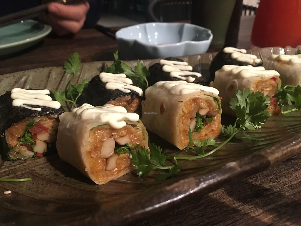 """Photo of Uu Dam Chay  by <a href=""""/members/profile/Veganville"""">Veganville</a> <br/>Vegan sushi! <br/> March 7, 2018  - <a href='/contact/abuse/image/73265/367804'>Report</a>"""