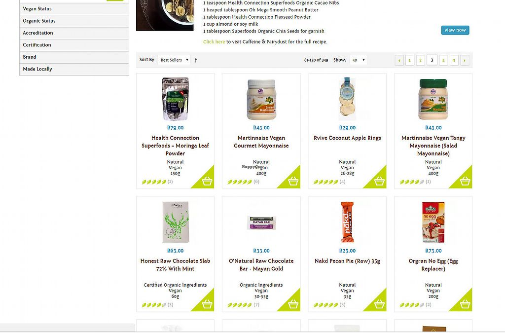 """Photo of Faithful to Nature  by <a href=""""/members/profile/janetbotes"""">janetbotes</a> <br/>Screenshot of some of the products in their vegan section <br/> June 19, 2017  - <a href='/contact/abuse/image/73270/270812'>Report</a>"""