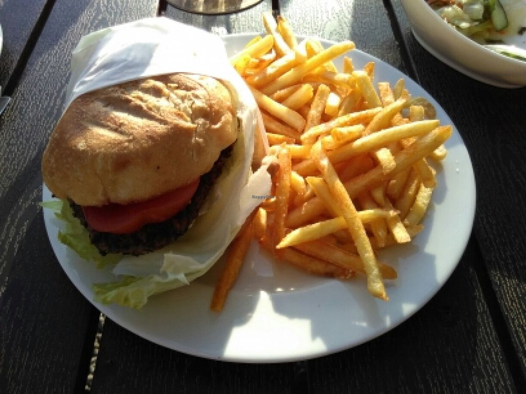 """Photo of VeBistro  by <a href=""""/members/profile/AchimGuldner"""">AchimGuldner</a> <br/>Mc Blies (lentil burger) <br/> May 5, 2016  - <a href='/contact/abuse/image/73281/147603'>Report</a>"""