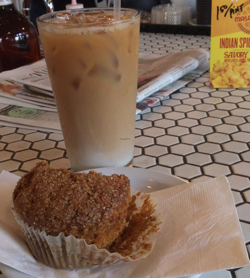 """Photo of Ford Food & Drink  by <a href=""""/members/profile/Arthousebill"""">Arthousebill</a> <br/>Vegan squats muffin and homemade chai with soy <br/> May 6, 2016  - <a href='/contact/abuse/image/73292/221110'>Report</a>"""