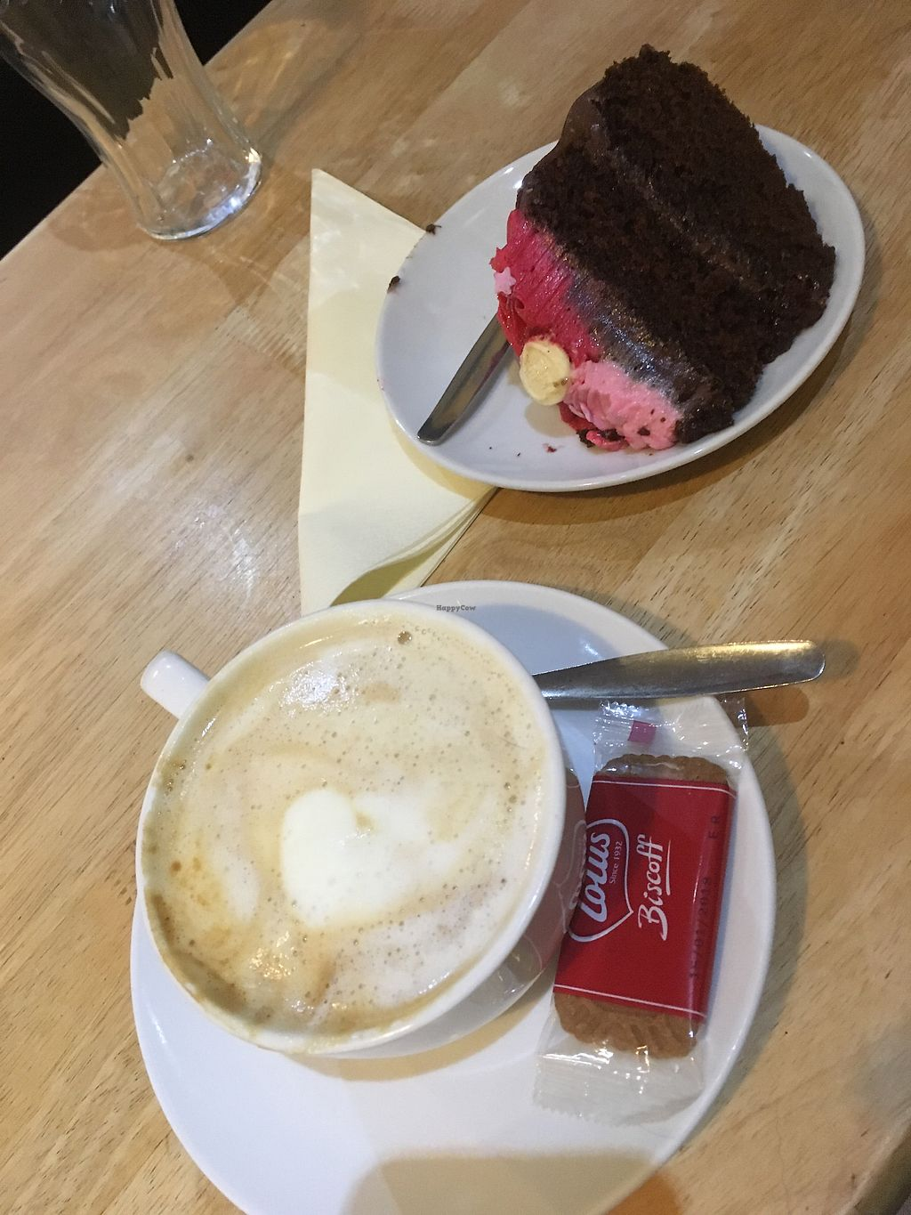 """Photo of PerryLicious Coffee and Cake Rooms  by <a href=""""/members/profile/Kwarmoth"""">Kwarmoth</a> <br/>chocolate fudge cake and latte  <br/> August 6, 2017  - <a href='/contact/abuse/image/73298/289604'>Report</a>"""