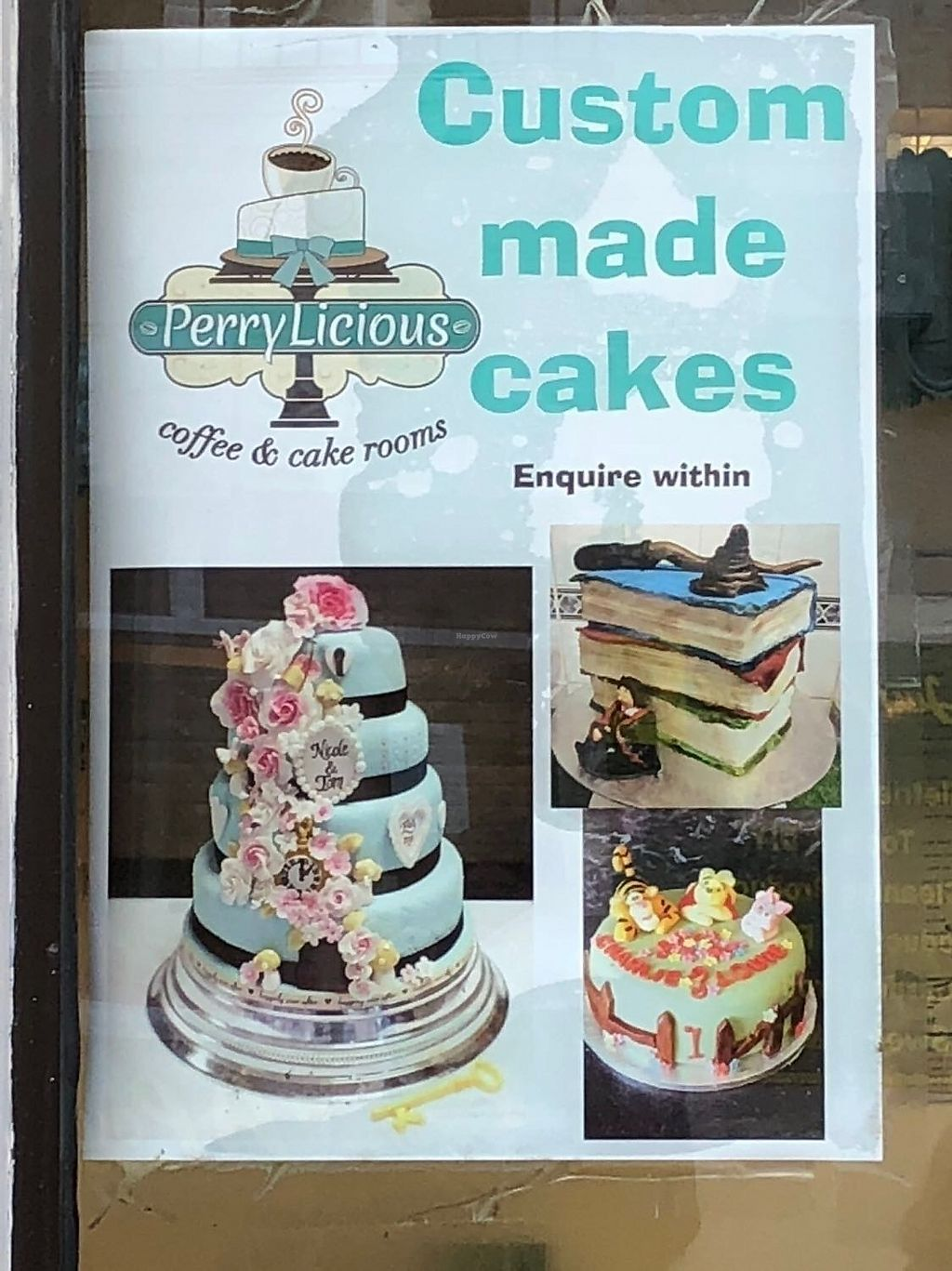 """Photo of PerryLicious Coffee and Cake Rooms  by <a href=""""/members/profile/drgemgem"""">drgemgem</a> <br/>You can even order cakes! <br/> December 23, 2017  - <a href='/contact/abuse/image/73298/338463'>Report</a>"""