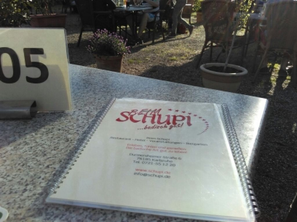 """Photo of Beim Schupi  by <a href=""""/members/profile/manfredwiesel"""">manfredwiesel</a> <br/>Menü / Biergarten  <br/> May 5, 2016  - <a href='/contact/abuse/image/73302/147582'>Report</a>"""