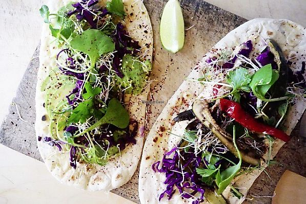 """Photo of gud  by <a href=""""/members/profile/vicwadders"""">vicwadders</a> <br/>Avocado flatbread and hummus and roasted veg flatbread <br/> March 22, 2018  - <a href='/contact/abuse/image/73307/374429'>Report</a>"""
