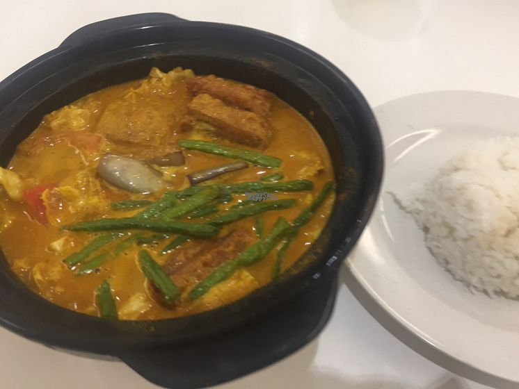 """Photo of Vegan Recipe Cafe - maybe closed  by <a href=""""/members/profile/AlexMarcCohen"""">AlexMarcCohen</a> <br/>Delicious curry, with tofu and bean curd.  <br/> September 5, 2016  - <a href='/contact/abuse/image/73316/173682'>Report</a>"""