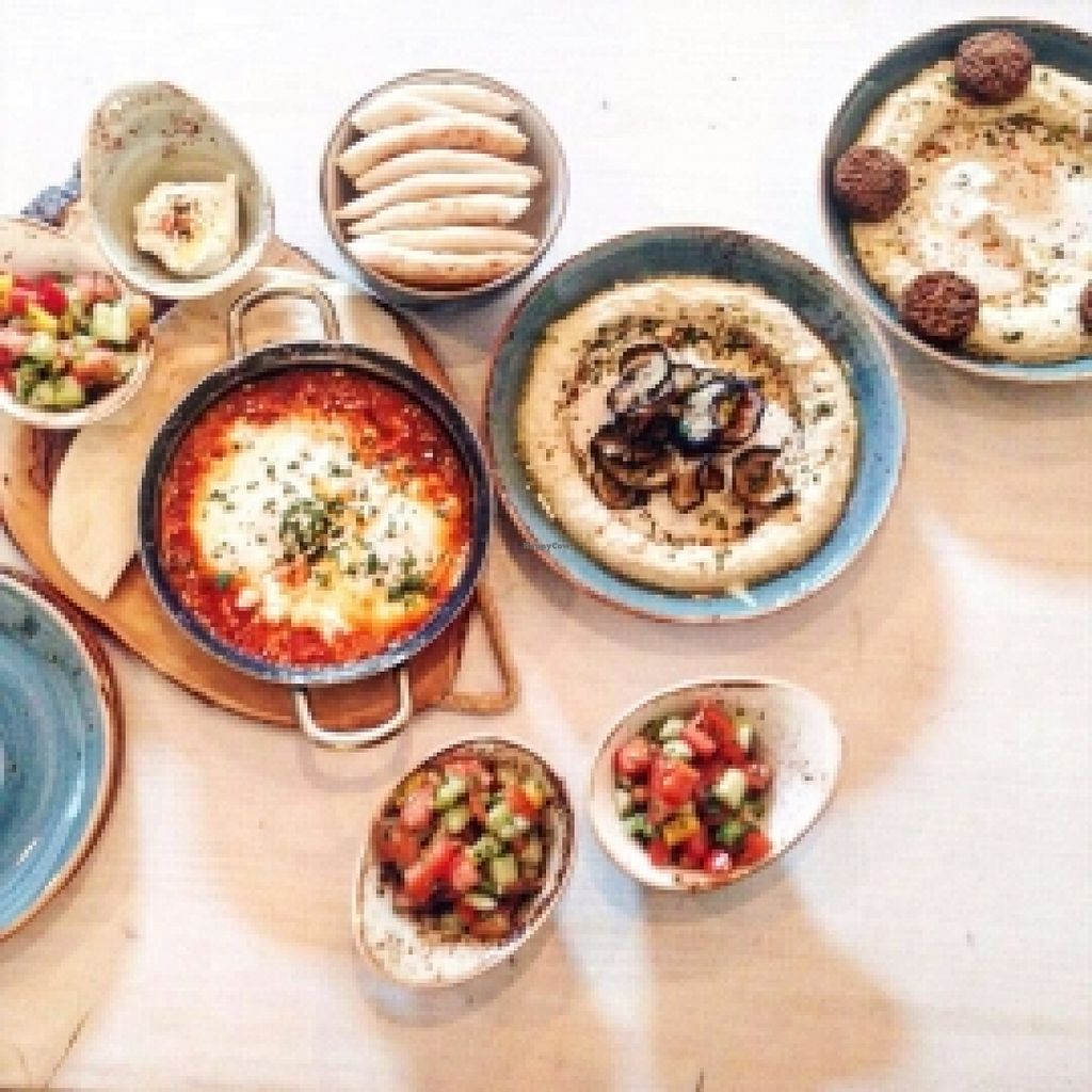 "Photo of Simply Delicious by Ronen  by <a href=""/members/profile/Alice_"">Alice_</a> <br/>Vegan hummus and vegetarian Shashuka <br/> May 8, 2016  - <a href='/contact/abuse/image/73318/148039'>Report</a>"