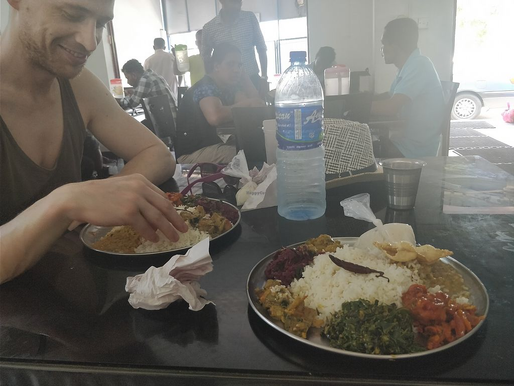 "Photo of Anna Pooram Vegetarian Restaurant   by <a href=""/members/profile/Libbytes"">Libbytes</a> <br/>Eating with your hands <br/> April 5, 2018  - <a href='/contact/abuse/image/73334/381080'>Report</a>"