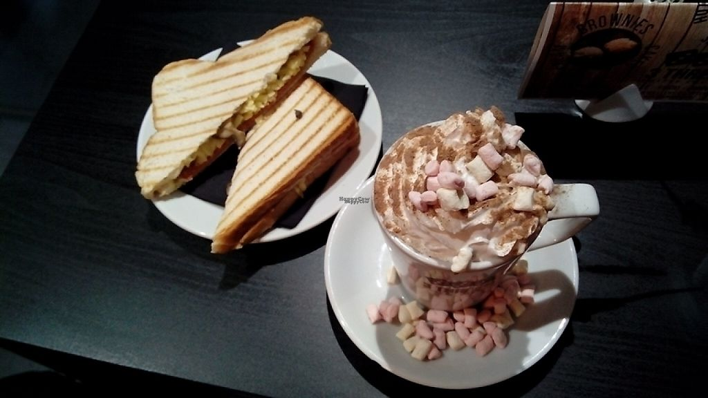 "Photo of 3 Three's Coffee Lounge  by <a href=""/members/profile/Ljolly"">Ljolly</a> <br/>bacon, cheese and mushroom toastie and hot chocolate <br/> April 14, 2017  - <a href='/contact/abuse/image/73338/247983'>Report</a>"