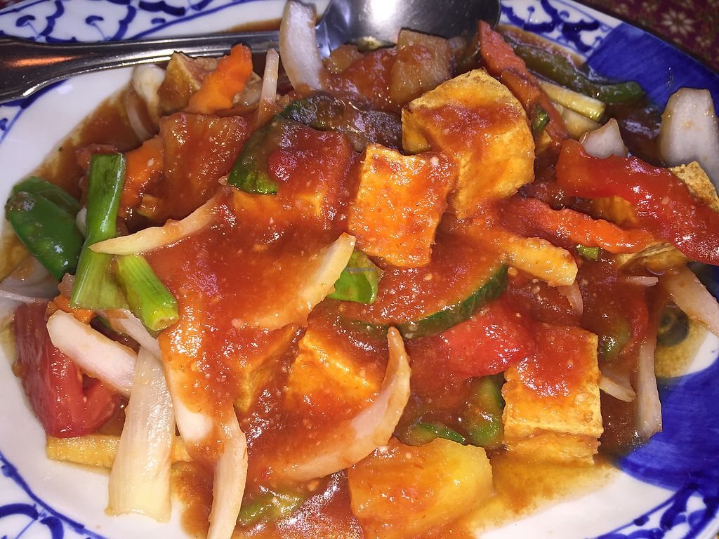 "Photo of Nakorn Thai Cuisine  by <a href=""/members/profile/TinaPlantbased"">TinaPlantbased</a> <br/>sweet and sour tofu with veggies, it was so awesome we came back a second time for this dish  <br/> August 23, 2017  - <a href='/contact/abuse/image/73348/296510'>Report</a>"