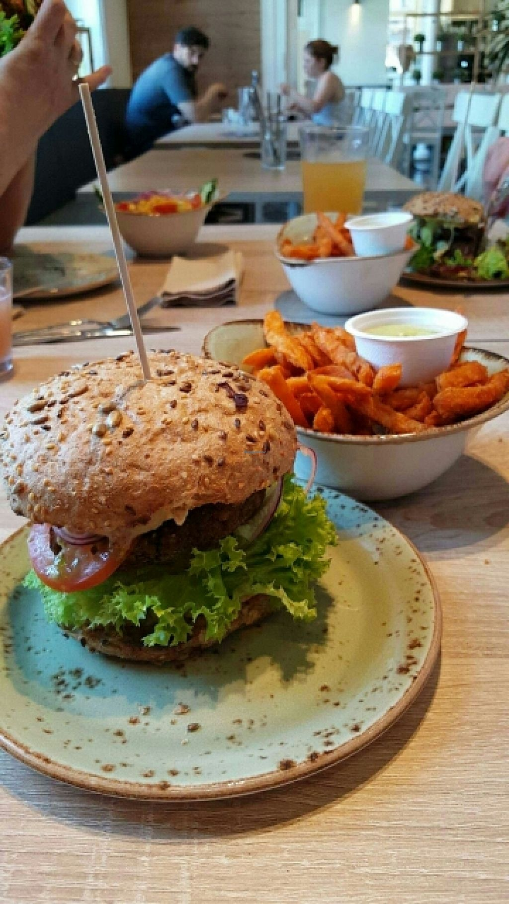 """Photo of CLOSED: My Heart Beats Vegan  by <a href=""""/members/profile/davehk"""">davehk</a> <br/>Mama Marrakesch burger with sweet potato chips <br/> June 25, 2016  - <a href='/contact/abuse/image/73364/155987'>Report</a>"""