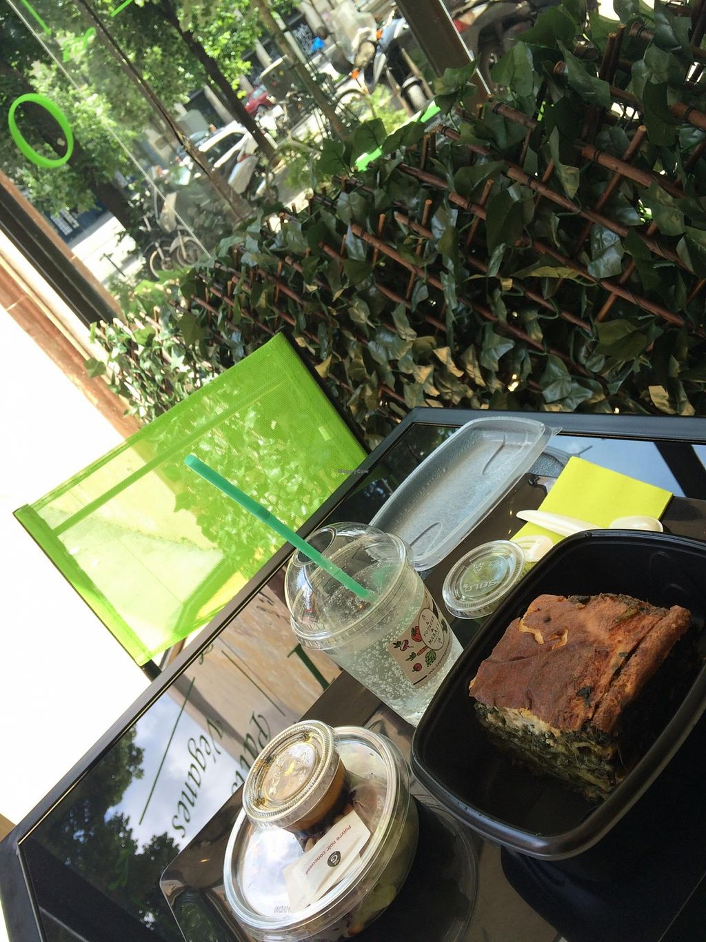 "Photo of CLOSED: Le Potager du Marais - Take Away  by <a href=""/members/profile/LauraMay"">LauraMay</a> <br/>A menu: lasagna, salad mix and lemonade <br/> May 26, 2016  - <a href='/contact/abuse/image/73369/150886'>Report</a>"