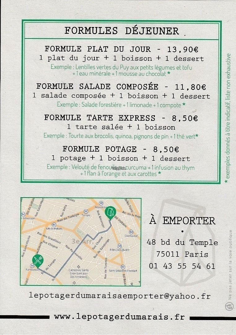 "Photo of CLOSED: Le Potager du Marais - Take Away  by <a href=""/members/profile/Ricardo"">Ricardo</a> <br/>Sets of the Day (as of September 2016) <br/> September 27, 2016  - <a href='/contact/abuse/image/73369/178227'>Report</a>"
