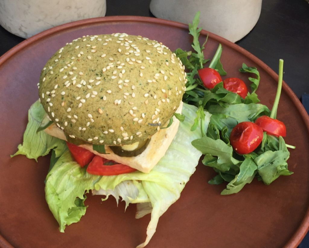 "Photo of One Planet  by <a href=""/members/profile/Veganmeower"">Veganmeower</a> <br/>tofu mushroom burger  <br/> August 22, 2016  - <a href='/contact/abuse/image/73400/243897'>Report</a>"